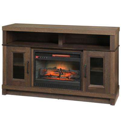 Ashmont 54 in. Freestanding Electric Fireplace TV Stand in Aged Oak