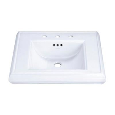 Memoirs 5-3/8 in. Cermaic Pedestal Sink Basin in White with Overflow Drain