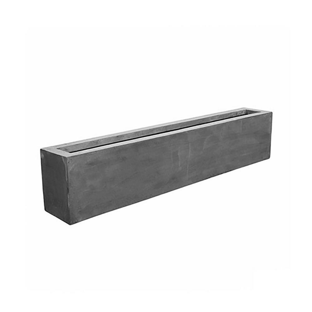 16.5 in. x 12 in. x 78.8 in. Cement Fiberstone Planter