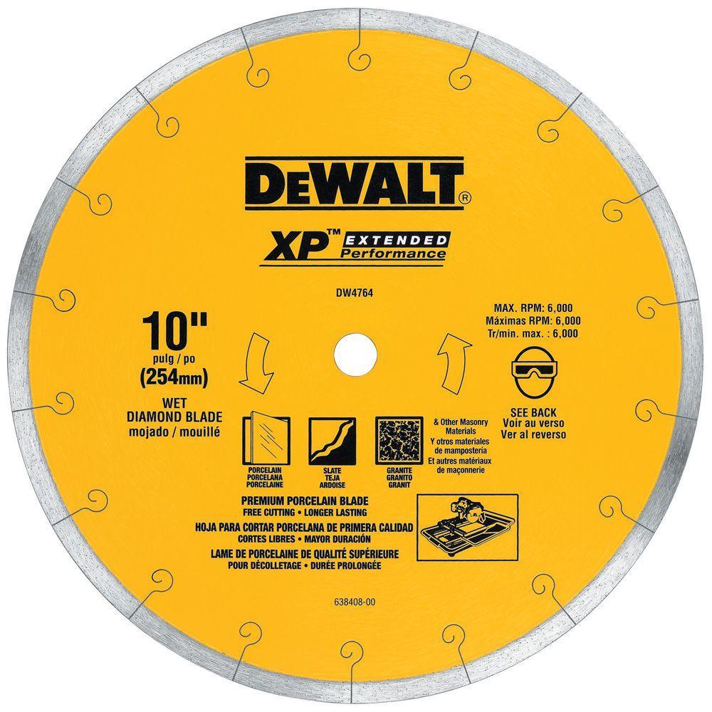 Dewalt Xp4 10 In X 1 16 In Premium Wet Diamond Blade