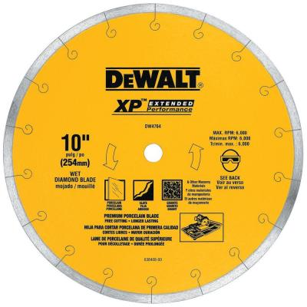 XP4 10 in. x 1/16 in. Premium Wet Diamond Blade
