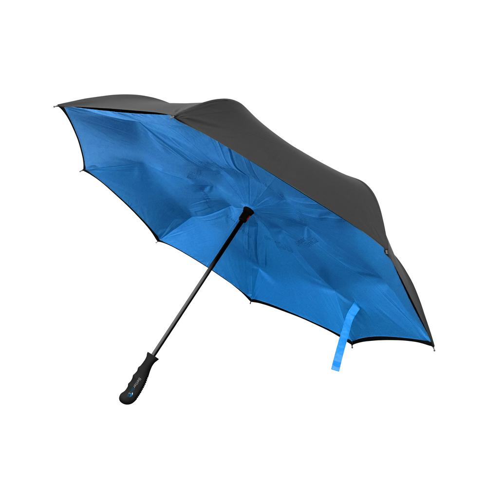 Better Brella 41.5 in. Wide Wind Proof with Reverse Open/Close Technology  Double-Ribbed Umbrella