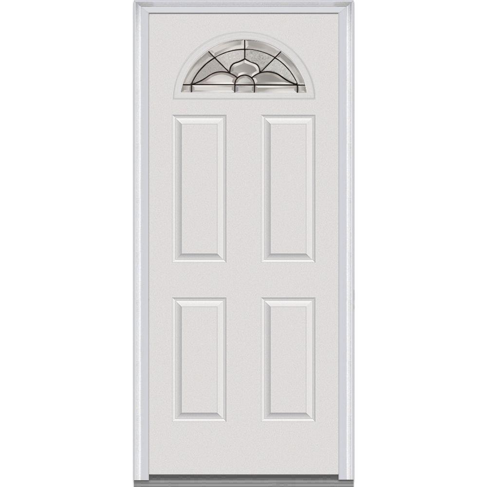 white front doors30 x 80  OffWhite  Front Doors  Exterior Doors  The Home Depot
