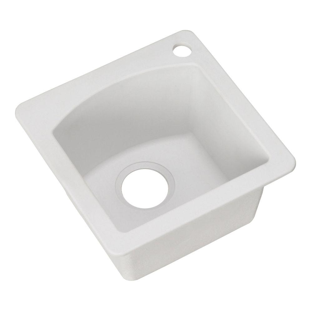 Diamond Dual Mount Composite 15 in. 1-Hole Single Bowl Bar Sink