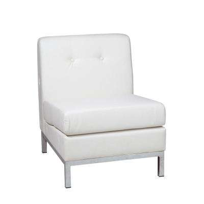 Wall Street White Faux Leather Accent Chair