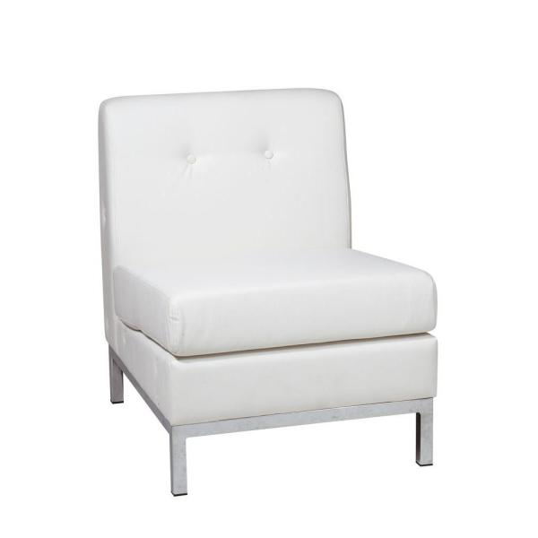 Prime Wall Street White Faux Leather Accent Chair Ibusinesslaw Wood Chair Design Ideas Ibusinesslaworg
