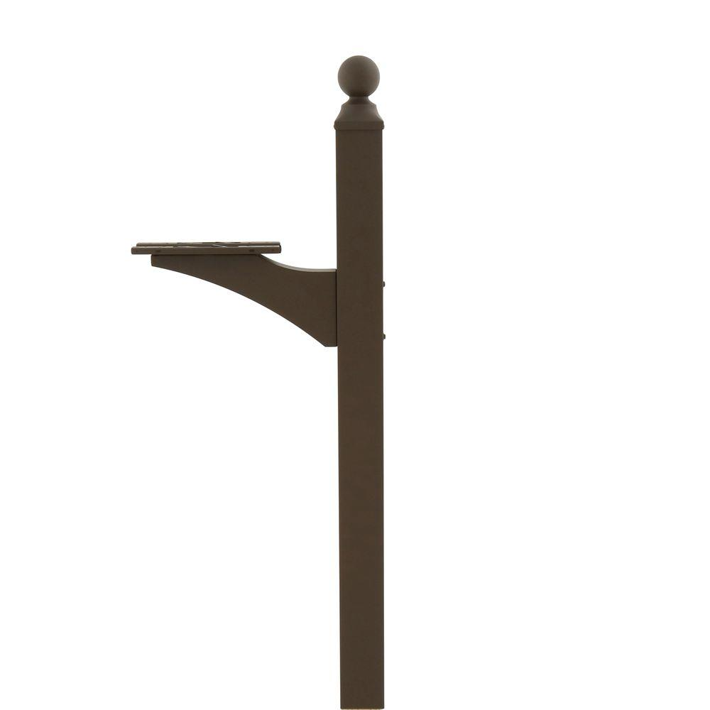 Landover 56.5 in. Universal Mailbox Post, Bronze