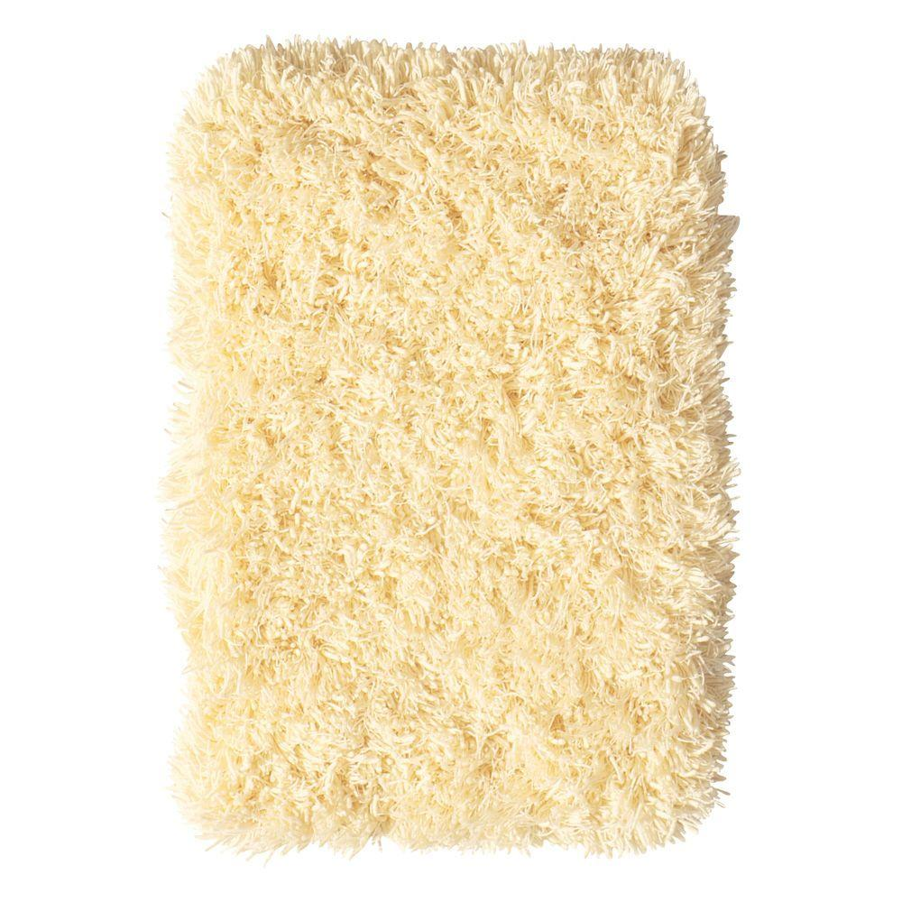Home Decorators Collection Ultimate Shag Banana Creme 8 ft. x 10 ft. Area Rug