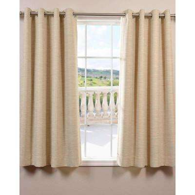 Semi-Opaque Candlelight Bellino Grommet Blackout Curtain - 50 in. W x 63 in. L (Panel)