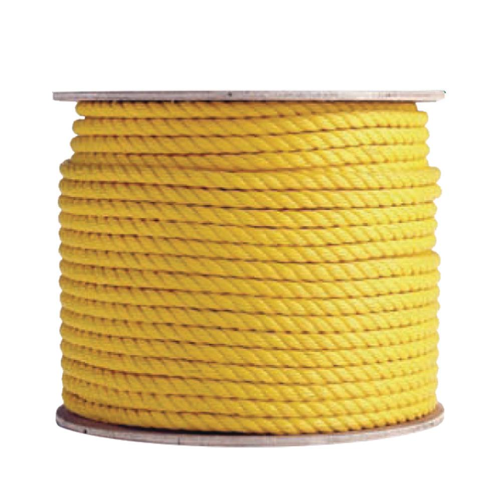 3/8 in. x 50 ft. Yellow Poly Rope (3-Pack)