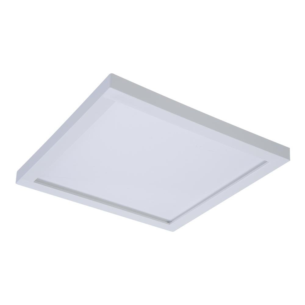 White Integrated LED Recessed Square  sc 1 st  The Home Depot & Design House 2-Light White Ceiling Square Mount Light Fixture with ... azcodes.com