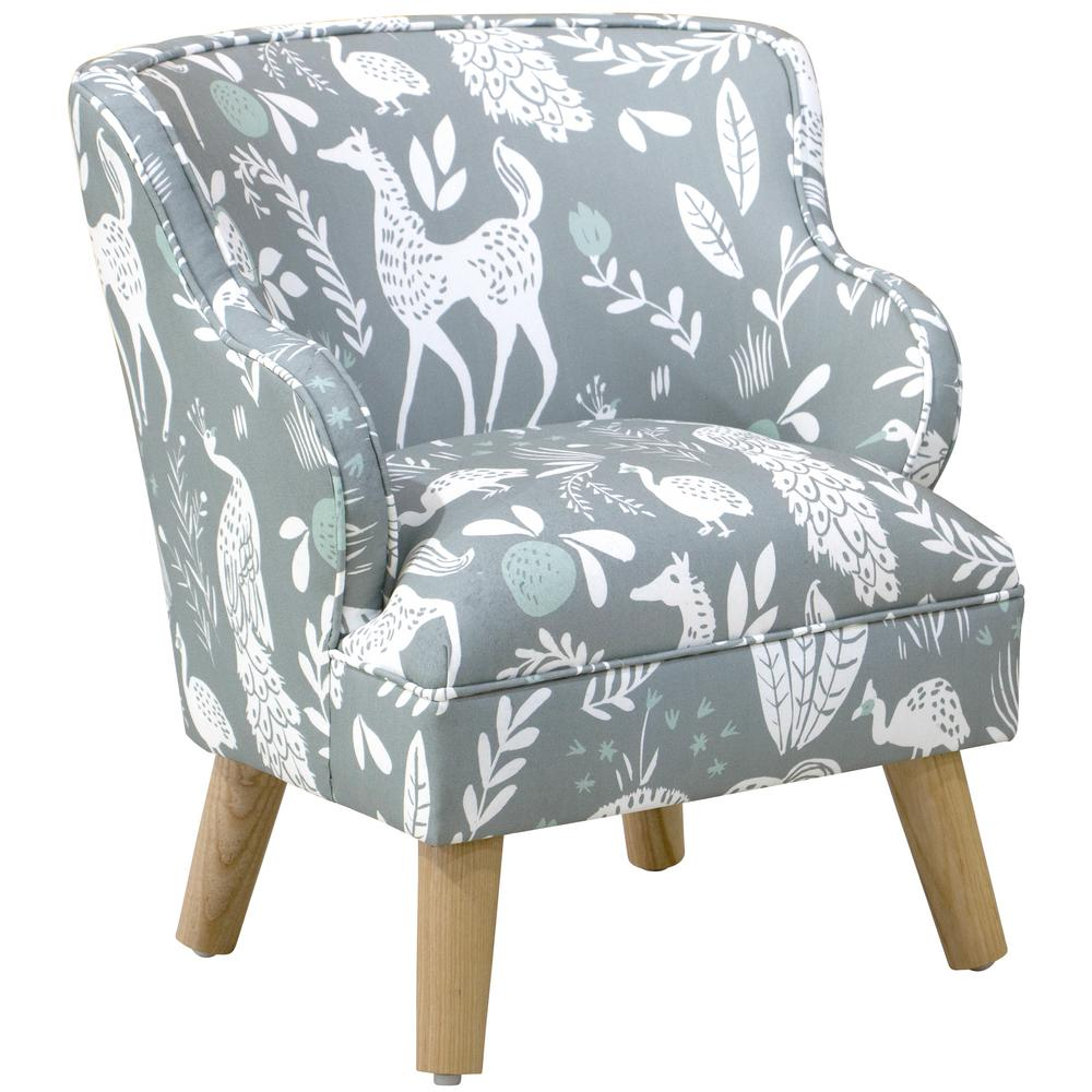 Skyline Furniture Hatfield Fauna Grey Ground Mint Kid S