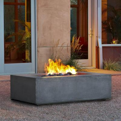 Baltic 51 in. Rectangle Propane Gas Outdoor Fire Pit in Glacier Gray