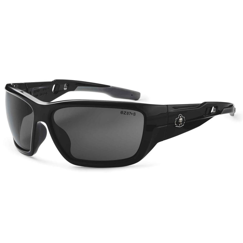 Skullerz Baldr Black Polarized Safety Glasses, Tinted Lens - ANSI Certified