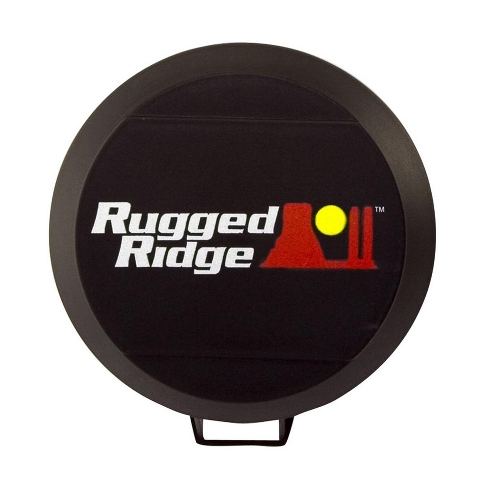 Rugged Ridge Hid Light Cover In Black