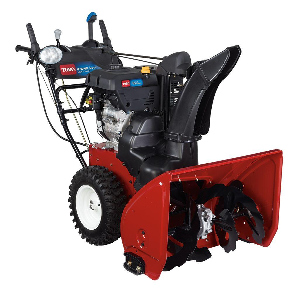 2 stage snow blower toro power max hd 1028 ohxe 28 in 302cc two stage gas 28976