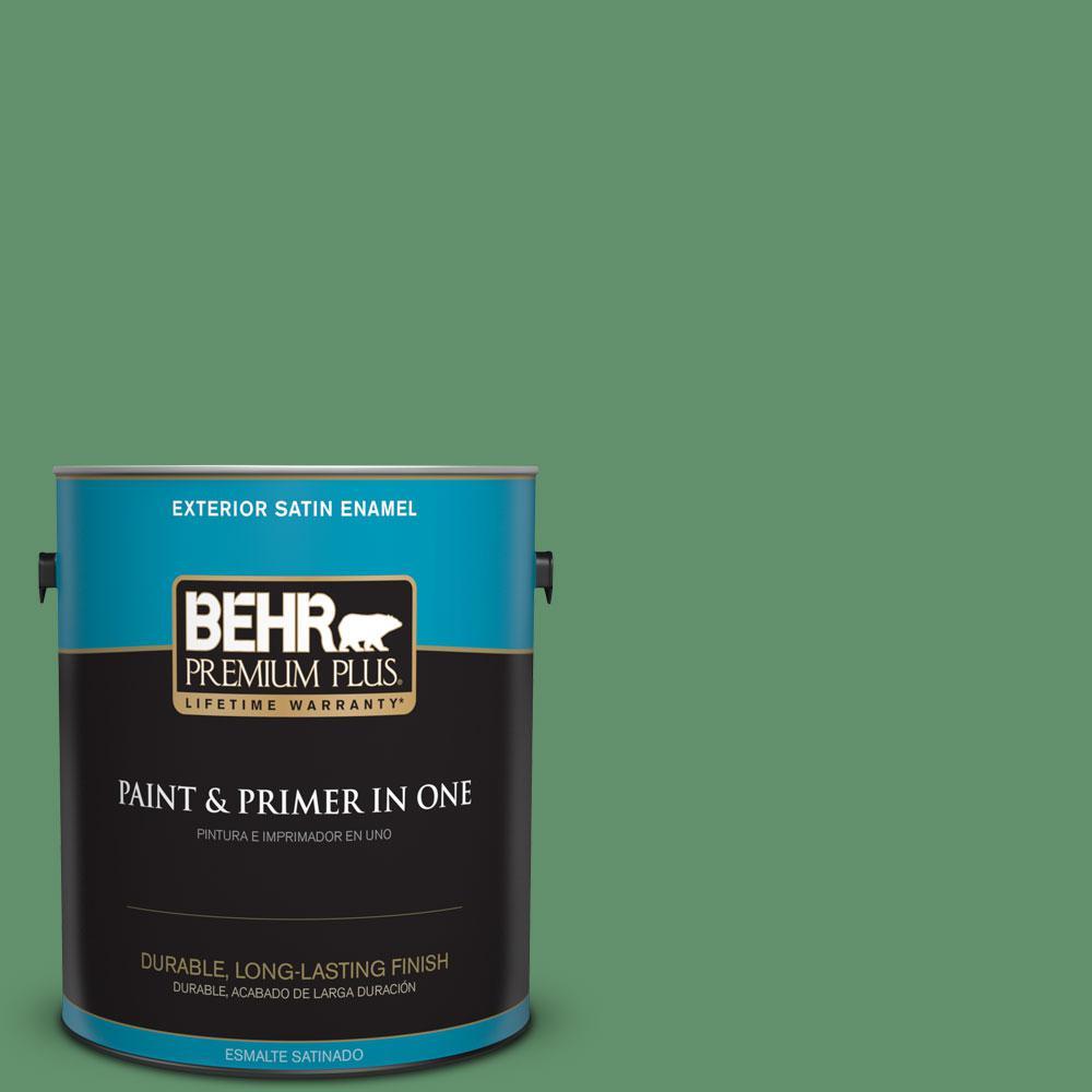 BEHR Premium Plus 1-gal. #460D-6 Manchester Satin Enamel Exterior Paint