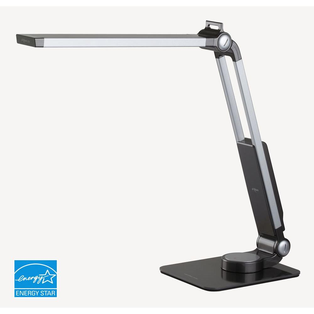 PRISM 18.25 in. Grey Energy Star LED Desk Lamp with Anti-Glaring Filter-DISCONTINUED