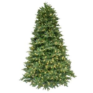 Pre Lit LED Balsam Fir Artificial Christmas Tree With Warm White  Lights 4201101 IP51HO   The Home Depot