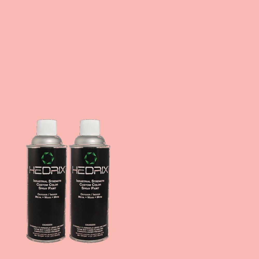 Hedrix 11 oz. Match of 1A24-4 Rose Parade Flat Custom Spray Paint (2-Pack)