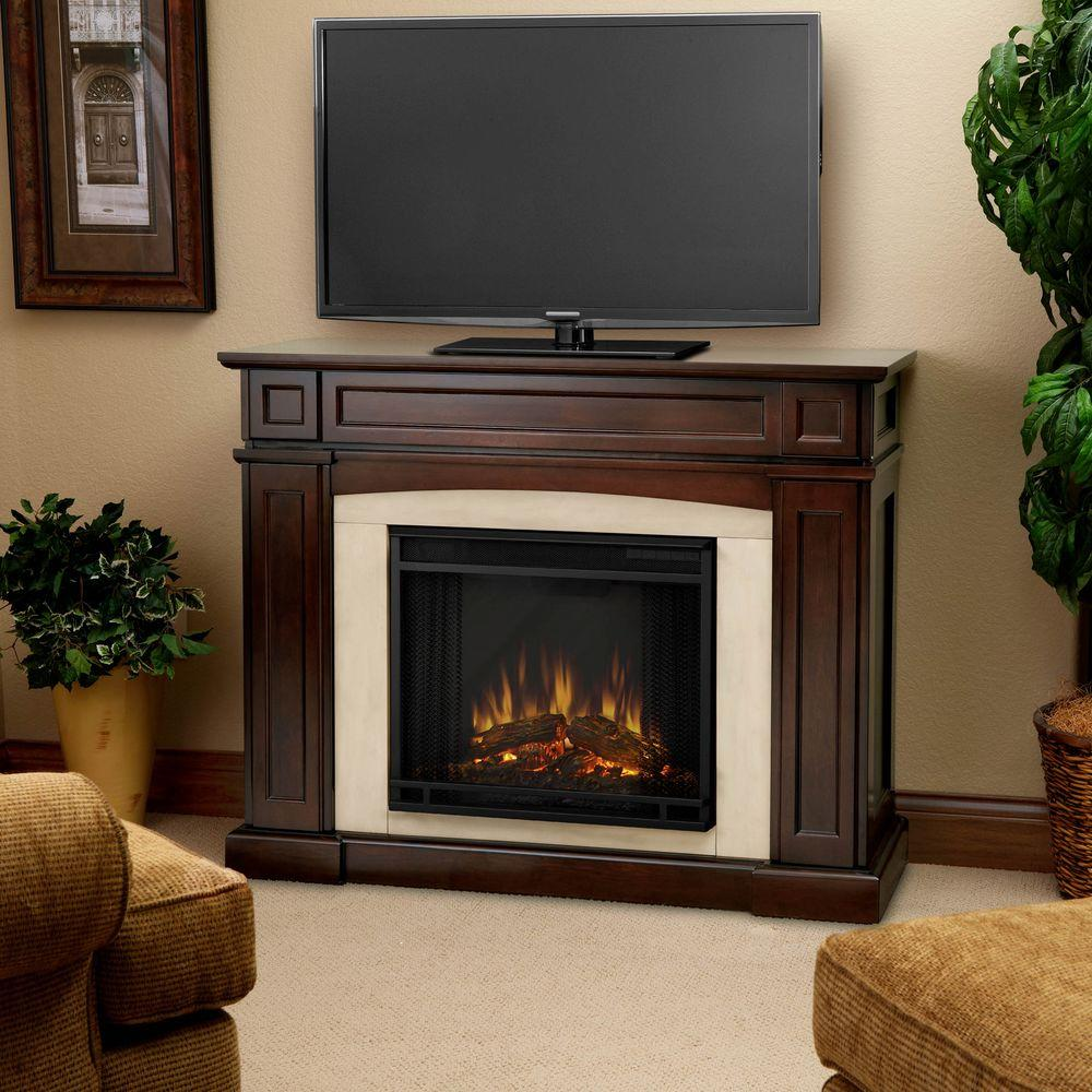Real Flame Rutherford 47 in. Electric Fireplace in Dark Mahogany