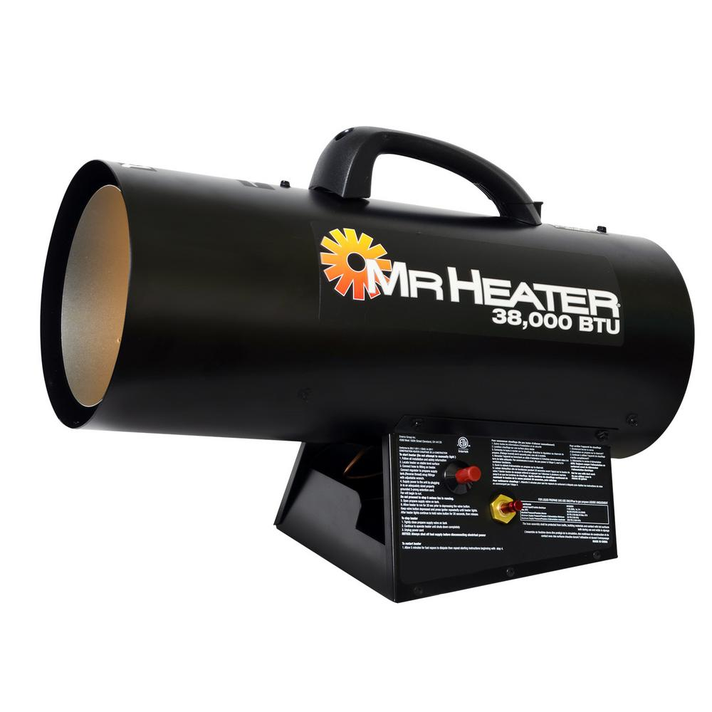 Forced Air Propane Heater >> Mr Heater 38 000 Btu Forced Air Propane Portable Heater Mh38qfa