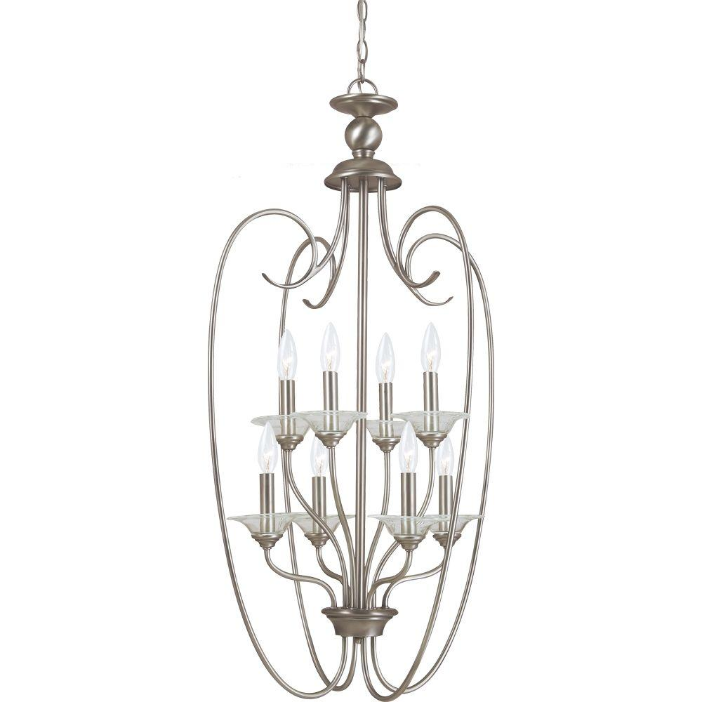 Sea Gull Lighting Lemont 8-Light Antique Brushed Nickel Hall/Foyer Pendant was $436.6 now $35.97 (92.0% off)