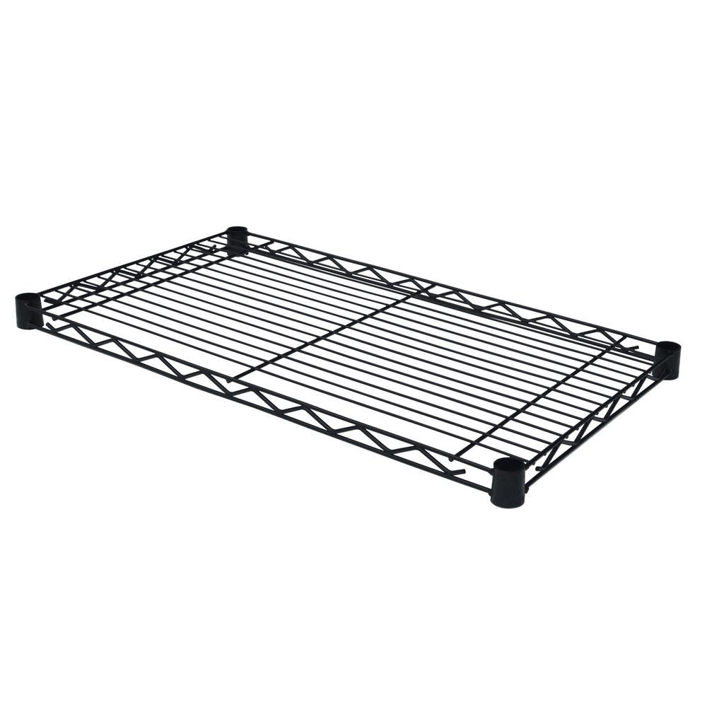 Excel 36 in. W x 14 in. D Individual Wire Shelf in Black-ES-3614P ...