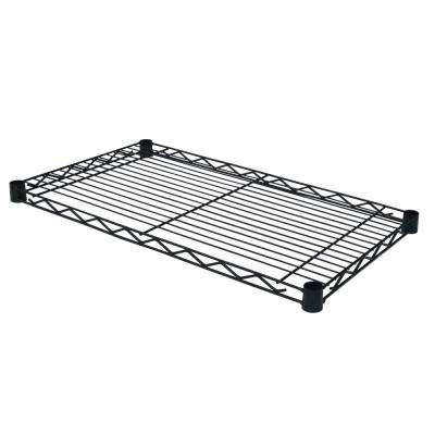 36 in. W x 14 in. D Individual Wire Shelf in Black