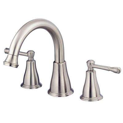 Eastham 2-Handle Roman Tub Faucet Deck-Mount Trim Only in Brushed Nickel (Valve Not Included)