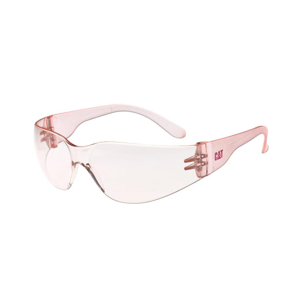 Safety Glasses Jet Pale Pink Lens with Case