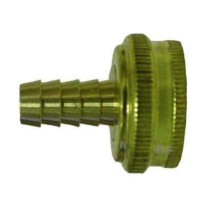 Lead-Free Brass Garden Hose Barb Adapter 3/4 in. FGH x 3/8 in.