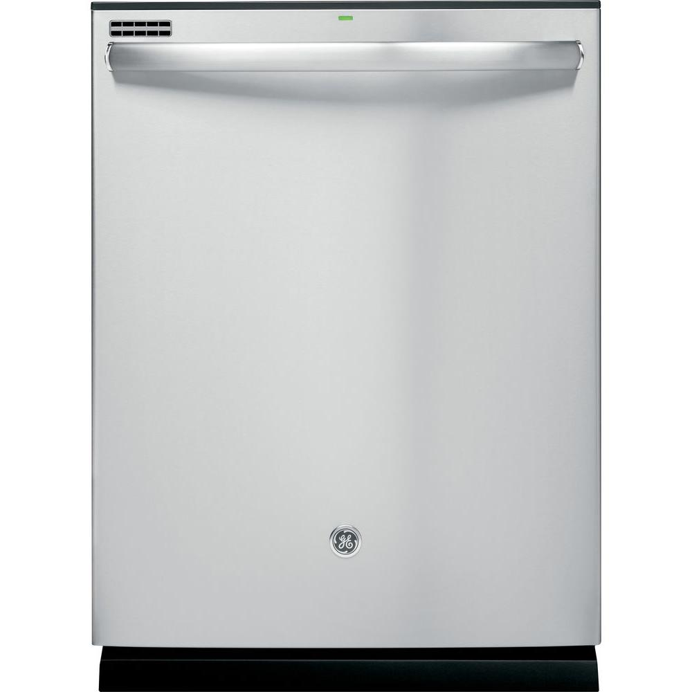 GE Top Control Dishwasher in Stainless Steel with Steam Cleaning