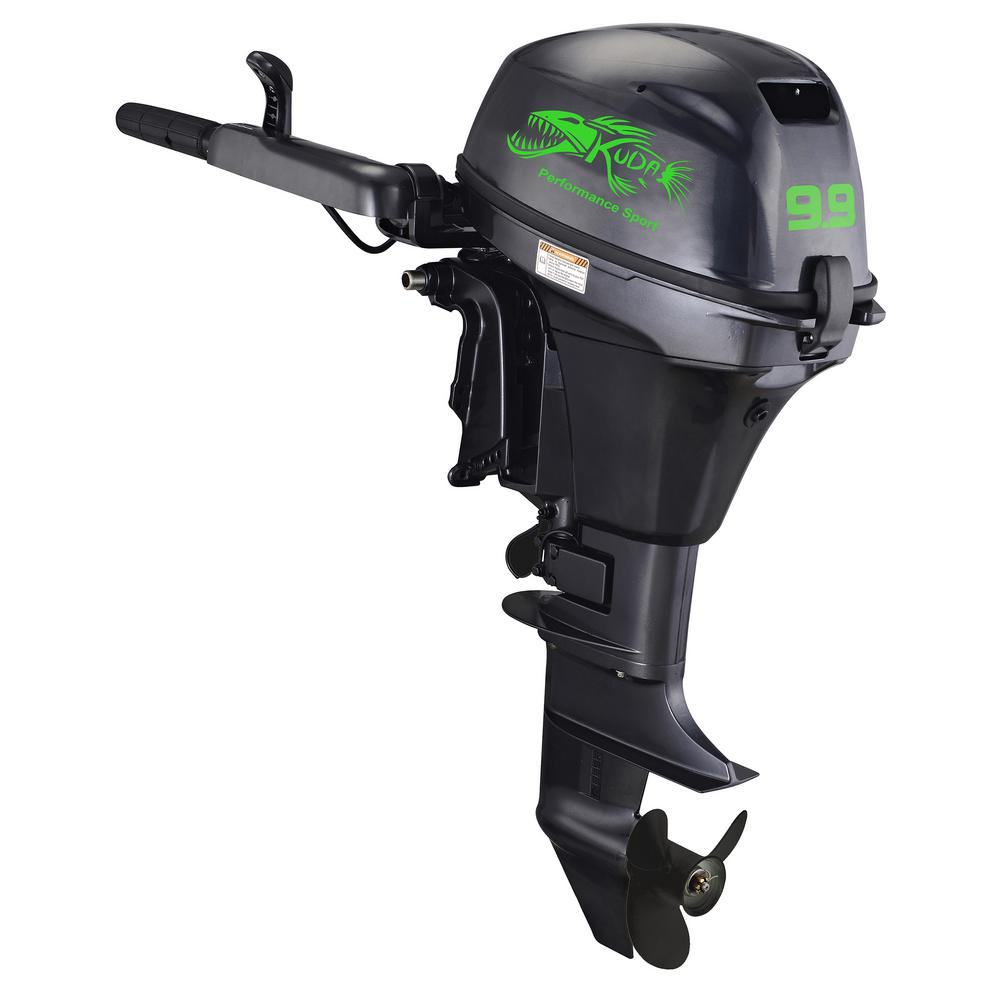 KUDA PERFORMANCE SPORT 4 Stroke 9.9 HP 5000 RPM Outboard Motor Tiller with 15 in.