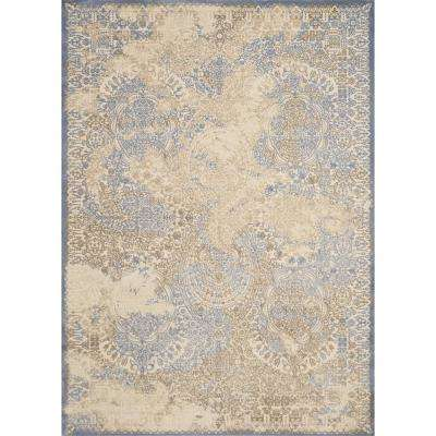 Dais Faded Grace Light Blue 5 ft. 3 in. x 7 ft. 2 in. Area Rug