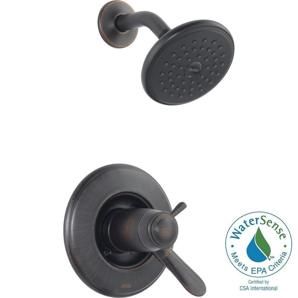 Delta Lahara TempAssure 17T Series 1-Handle Shower Faucet Trim Kit Only in Venetian Bronze (Valve Not Included)