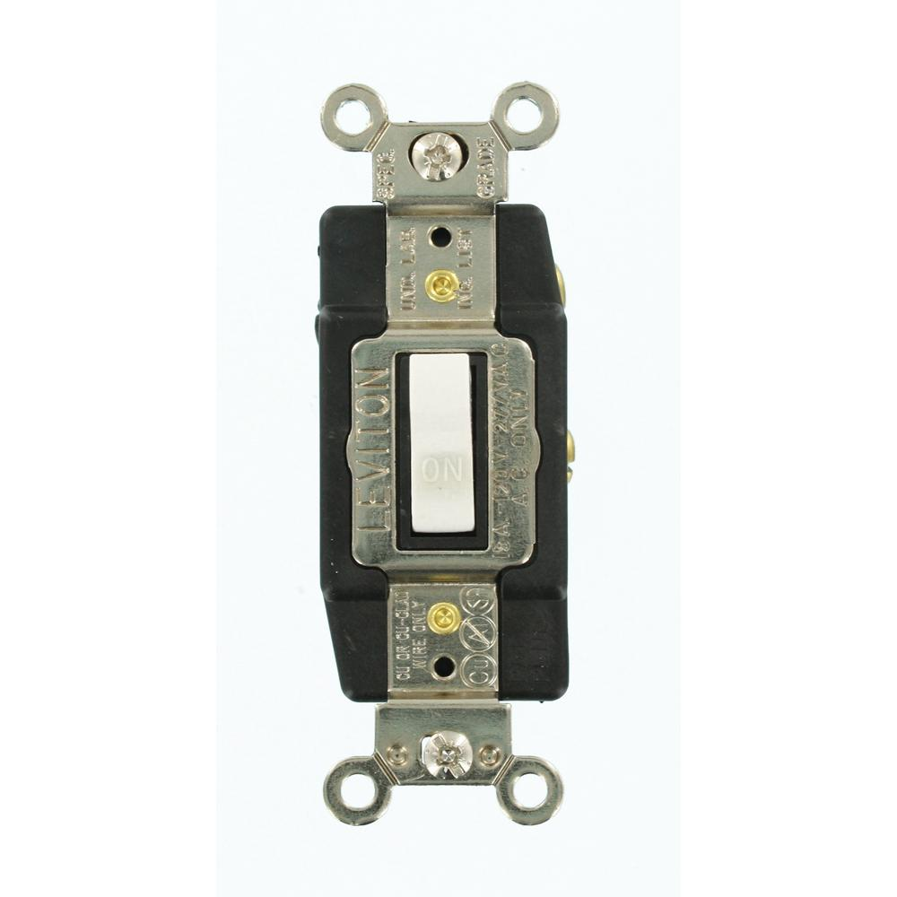 Leviton 15 Amp Single Pole Toggle Light Switch Almond R56 Wiring Common Industrial Grade Heavy Duty Double Throw Center Off