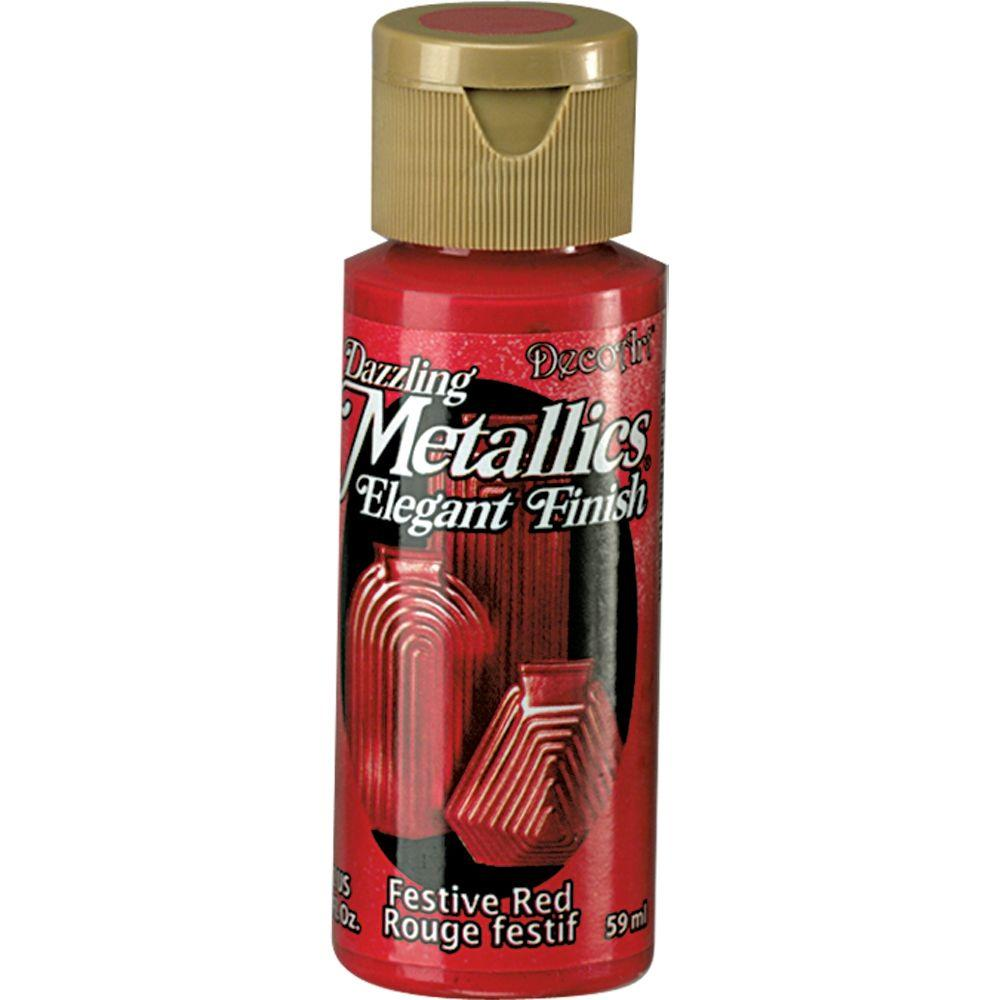 Dazzling Metallics 2 oz. Festive Red Acrylic Paint