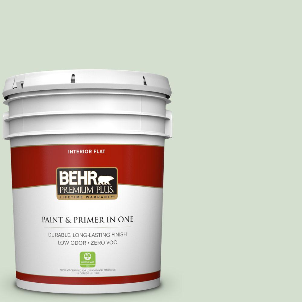 BEHR Premium Plus 5-gal. #S400-2 Comforting Green Flat Interior Paint