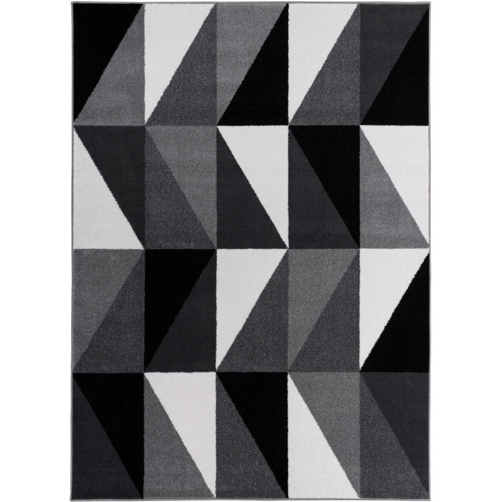 Well Woven Electro Amazing Grey 5 ft. 3 in. x 7 ft. 3 in. Geometric Area Rug