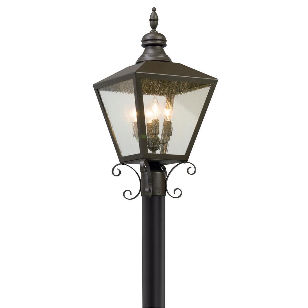 Mumford 4-Light Outdoor Bronze Post Light