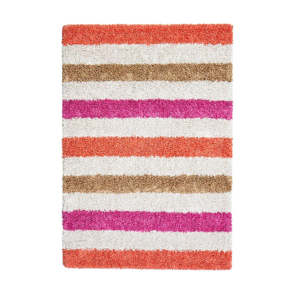 Candy Stripe Pink 8 ft. x 10 ft. Area Rug