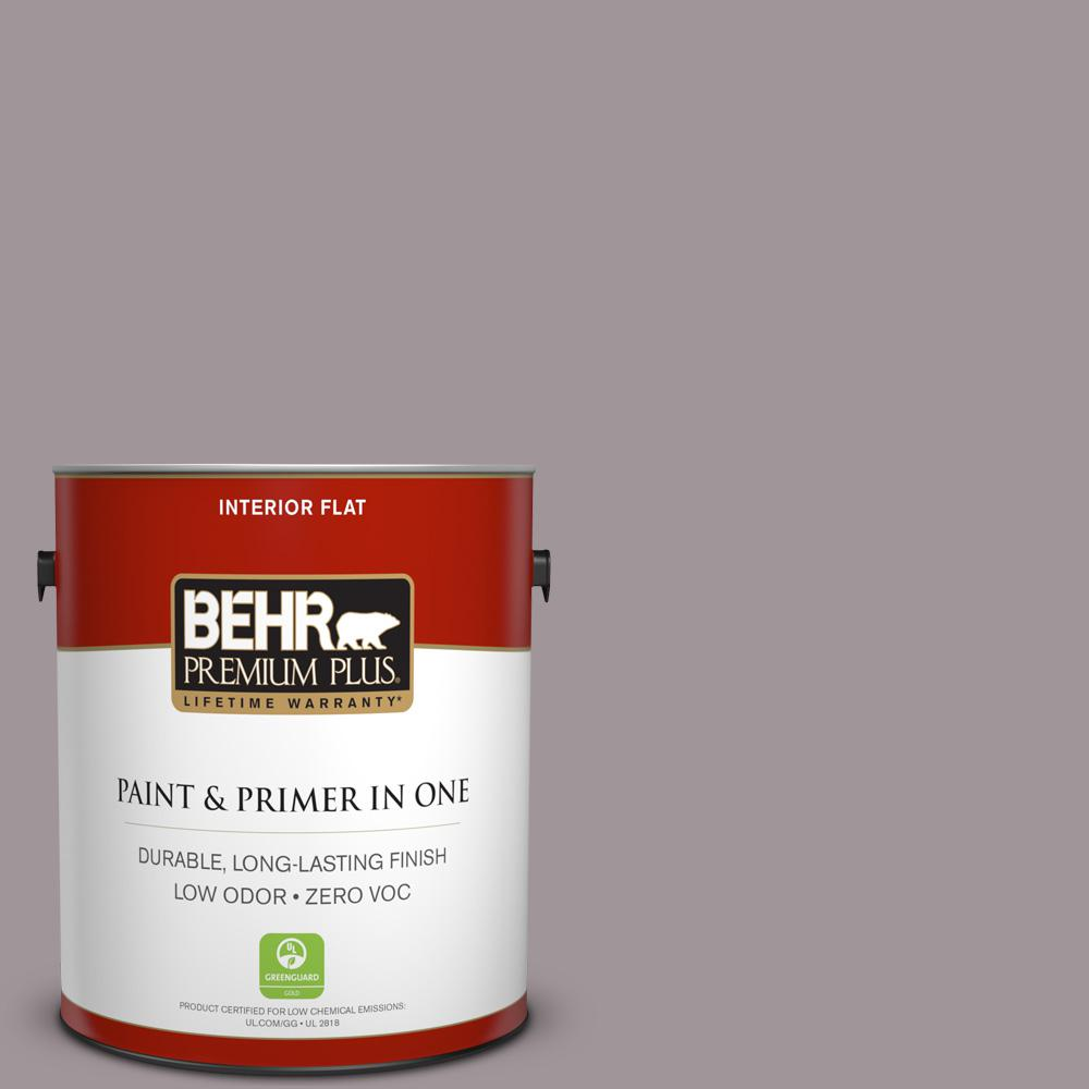 1 gal. #PPU17-13 Heather Plume Zero VOC Flat Interior Paint