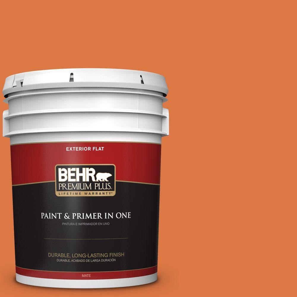 BEHR Premium Plus 5-gal. #P210-7 Japanese Koi Flat Exterior Paint, Oranges/Peaches