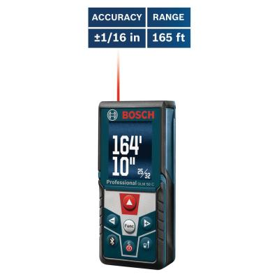 BLAZE 165 ft. Laser Distance Measurer with Bluetooth and Full Color Display