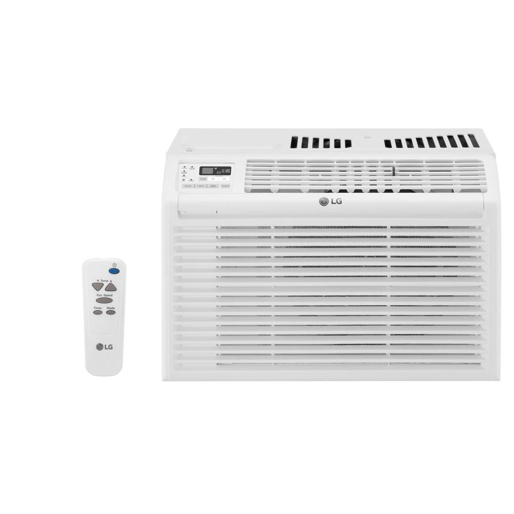 LG Electronics 6,000 BTU 115-Volt Window Air Conditioner with Remote in  White