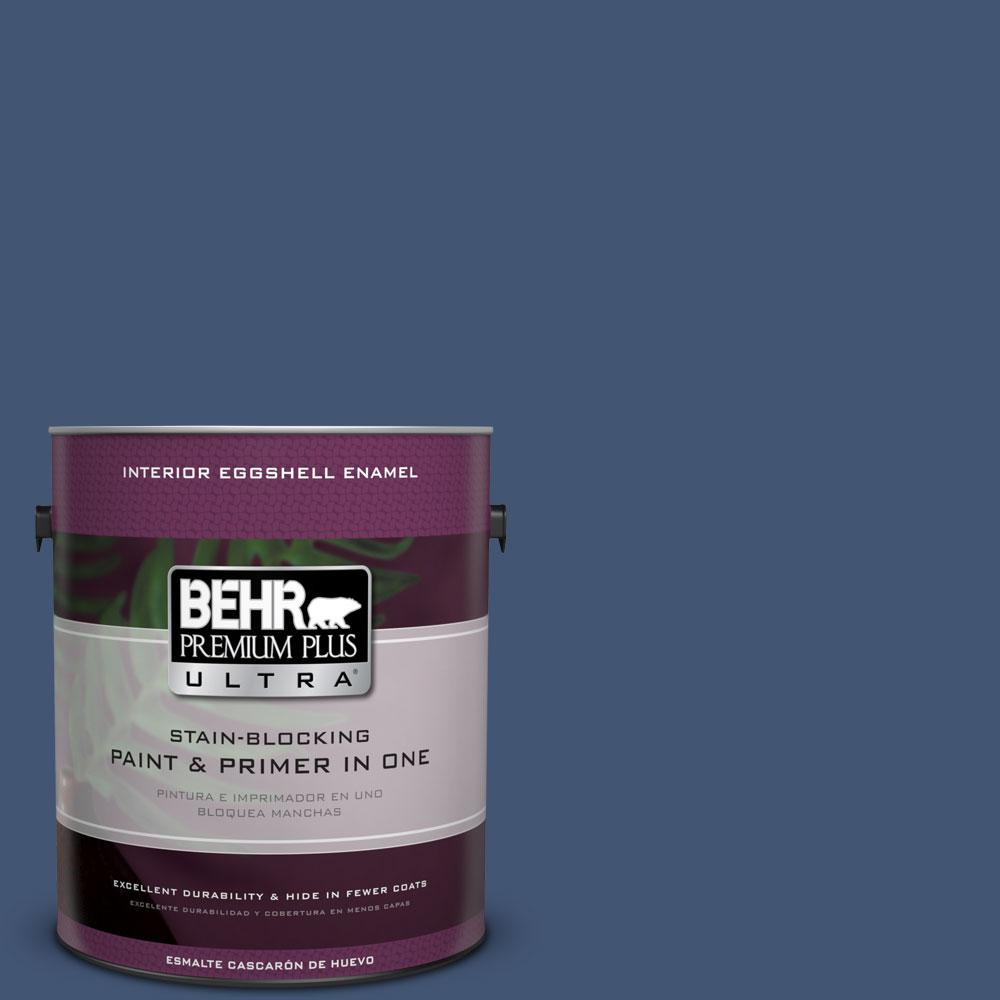 BEHR Premium Plus Ultra Home Decorators Collection 1-gal. #HDC-CL-26 Champlain Blue Eggshell Enamel Interior Paint