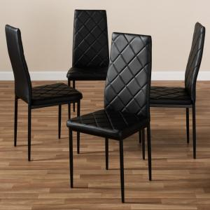 41fade7bef146 +3. Baxton Studio Blaise Black Faux Leather Upholstered Dining Chair ...