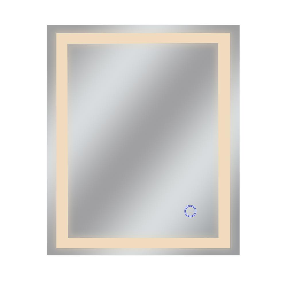 Dyconn Edison Tri-Color 30 in. x 36 in. Single LED Wall Mounted Backlit LED Bathroom Mirror