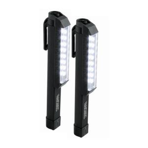 iProtec 100-Lumen Larry Pocket WorkBrite LED Flashlight in Black (2-Pack) by iProtec